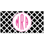 Black Lattice Car Tag
