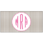 Chocolate Houndstooth Car Tag