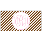 Chocolate Stripe Car Tag