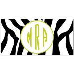 Lime Zebra Car Tag