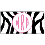 Pink Zebra Car Tag