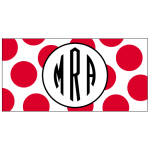 Red Dots Car Tag