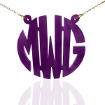 Modern Monogram Acrylic Necklace- Many Colors