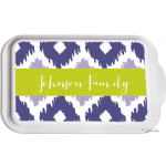 Monogrammed Casserole Dish- Design Your Own Many Patterns & Colors - Ikat