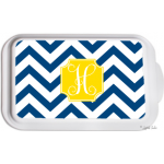 Monogrammed Casserole Serving Dish- Design Your Own - Chevron
