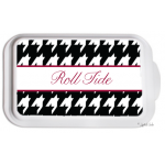Monogrammed Casserole Serving Dish - Houndstooth
