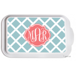 Monogrammed Casserole Serving Dish - Lattice