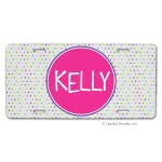 Confetti Dots Car Tag