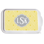 Monogrammed Casserole Serving Dish - Funky Diamond