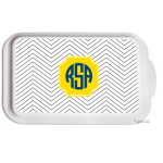 Monogrammed Casserole Serving Dish - Mini Chevron