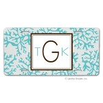 Blue Coral Car Tag