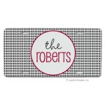 Black Houndstooth Car Tag