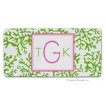 Green Coral Car Tag