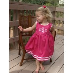 Pique Dress - Hot Pink/White