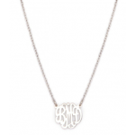 Monogrammed Sterling Silver Mini Monogram Necklace