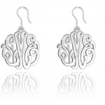 Sterling Silver Monogrammed Script Earrings