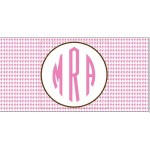 Pink Houndstooth Car Tag