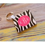 Monogram Key Chain Zebra