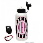 Pink Zebra Water Bottle