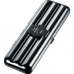 Volker Triple Gunmetal Cigar Case