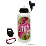 Pink Camo Water Bottle