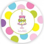 Plate - First Birthday Girl