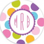 Plate - Multi Dots Monogram