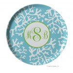 Personalized Coral Melamine Plate
