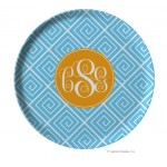 Funky Greek Personalized Melamine Plate