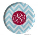 Chevron Personalized Melamine Plate