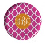 Morrocan Personalized Melamine Plate