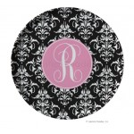Damask Personalized Melamine Plate