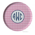 Houndstooth Personalized Melamine Plate