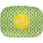 Monogram Platter Twisted Trellis