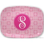 Monogram Melamine Platter Sqaures Many Colors- Customize It