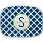 Monogram Melamine Platter Lattice