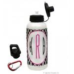 Black Lattice Water Bottle