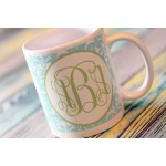 Damask Monogram Coffee Mug