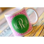 Trellis Monogram Coffee Mug