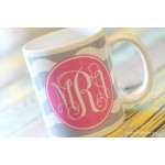 Ric Rac Monogram Coffee Mug