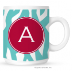 Zebra Monogram Coffee Mug