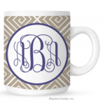 Funky Greek Monogram Coffee Mug