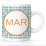 Squares Monogram Coffee Mug