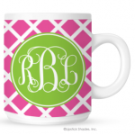 Lattice Monogram Coffee Mug