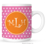 Mini Polka Monogram Coffee Mug