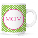 Funky Diamond Monogram Coffee Mug
