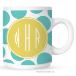 Biggie Polka Monogram Coffee Mug