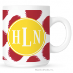 Ikat Funk Monogram Coffee Mug