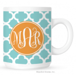 Quatrefoil Monogram Coffee Mug