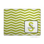 Key Lime Chevron Personalized Cutting Board